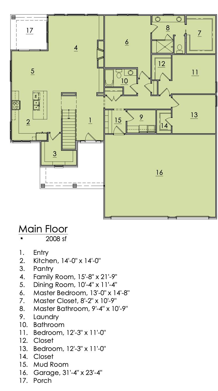 Holly Plan Main Floor