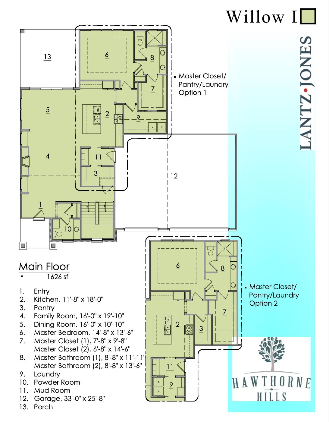 Willow 1 Main Floor