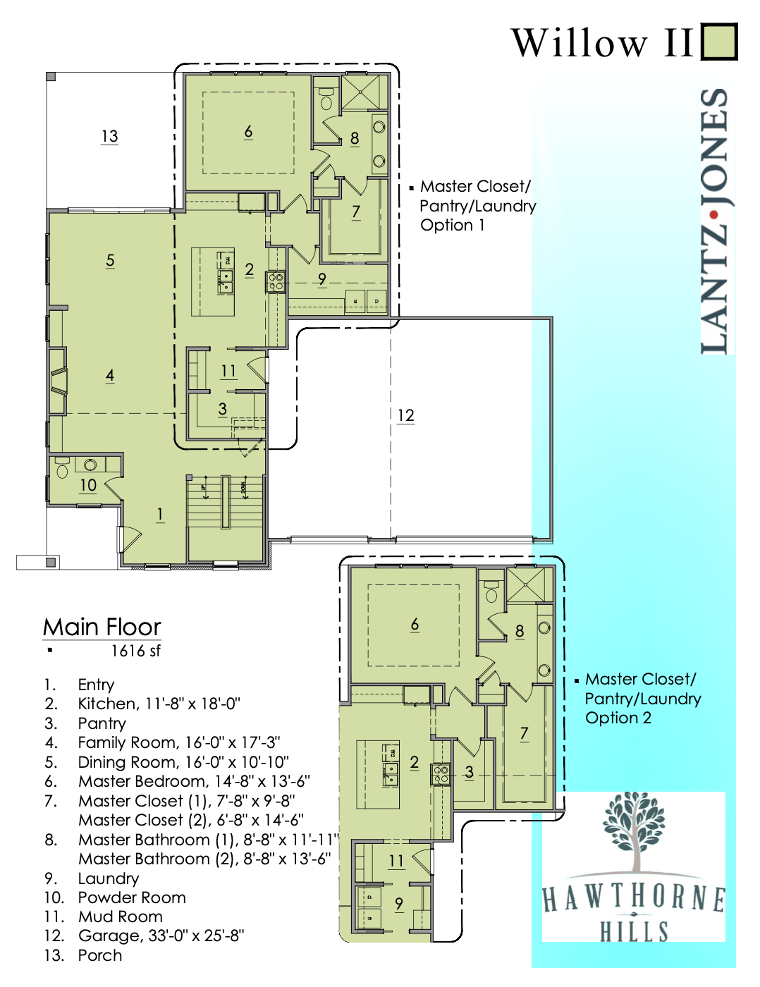 Willow 2 Main Floor